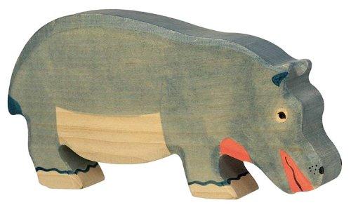Holztiger Nilpferd, fressend, 80161