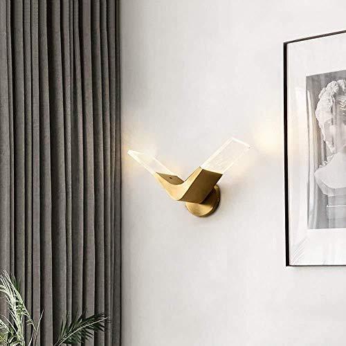 Sconce wandlamp helder koper LED wandlamp, artistieke vogel vorm, decoratieve licht voor woonkamer/slaapkamer bed/TV achtergrond muur/gang 31 * 19CM wandlampen