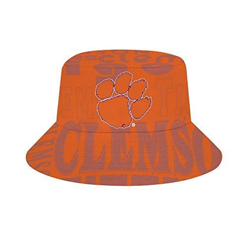 DKX Clemson Tigers Bucket Hat Football Team Hat Travel Beach Sun Hats for Women Men