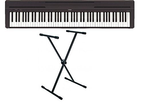 Pack Piano numérique Yamaha P45 noir + Support RTX X93