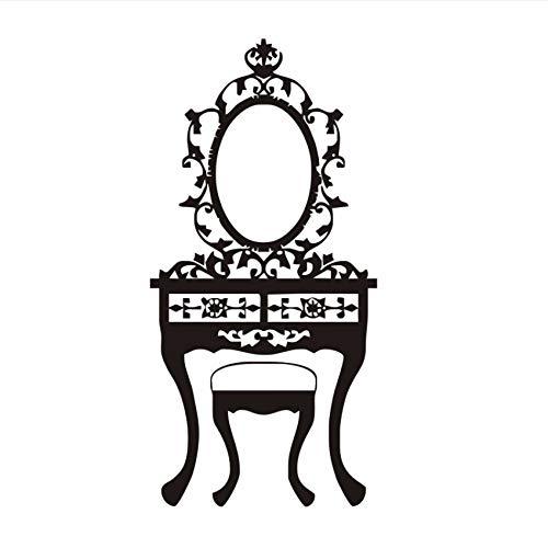 Pmhhc Vinyl Muurstickers Meisjes slaapkamer spiegel Wc Tafel Salon behang Black Poster uithullen Home Decor Art Muurschildering Decoratie