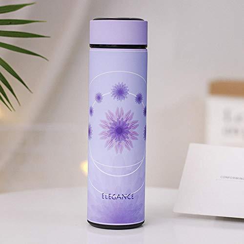 Mode Edelstahl Wasser Thermosflasche 500ml Isolierflasche Thermo Cup mit Infuser Tee Kaffeetassen-4