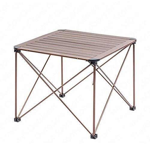 Picnic plegable portátil de la tabla de aleación de campaña durable Mesa plegable Mesa plegable al aire libre Escritorio viajes de camping Mesa de picnic Mesa Muebles impermeable Mesa plegable-M