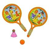 Ohne Markenzeichen 1 Juego de plásticos Divertidos educativos Deportes Juguetes Padre-Hijo Juego de Deportes Juguetes bádminton Raquetas de Tenis Bolas de Set al Aire Libre