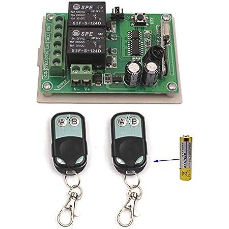 315MHZ RF Switch DC 12V-36V 2CH Channel Wireless Remote Control Switch