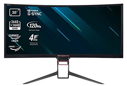 Predator Z35P Gaming Monitor 35 Zoll (89 cm Bildschirm) QHD, HDMI:50Hz, DP:100Hz, OC DP:120Hz, 4ms (G2G), HDMI 1.4, DP 1.2, höhenverstellbar, GSync