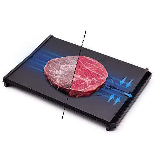 XIAOFEI Auftauplatte Schnell Abtauung Tablett Mit Tropfen Tablett Gefroren Essen Auftauen Teller Abtauen Fleisch Gefroren Essen Schnell Schnell Taue Gefroren Essen Zum Steak