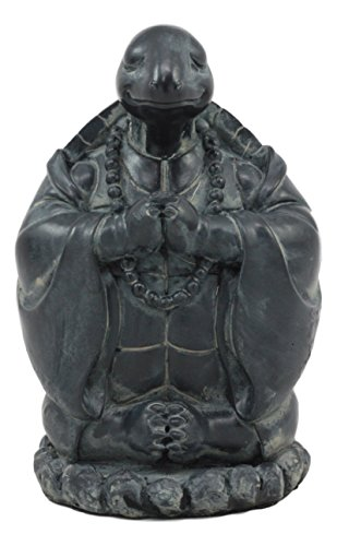 """Ebros Master Oogway Feng Shui Buddha Turtle Chanting Mantra Statue Zen Turtle Decorative Accent Celestial Kung Fu Animals Talisman Figurine 5.75"""" Tall"""
