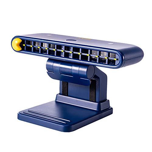 LOVIVER Clip Fan USB uppladdningsbar bärbar speldator skärm bärbar mapp för kontor – blå