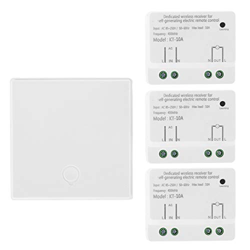 Yoging - Módulo receptor inalámbrico automático con interruptor de llave 1/2/3, para lámpara/televisor