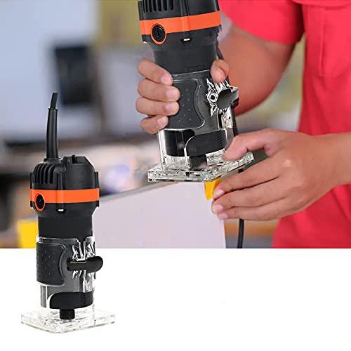 EUNEWR Fresadora eléctrica con una mano, 220 V, 1000 W, 32000 r/min, para procesamiento de madera, herramienta de corte para carpintería y muebles, muescas ranuradas