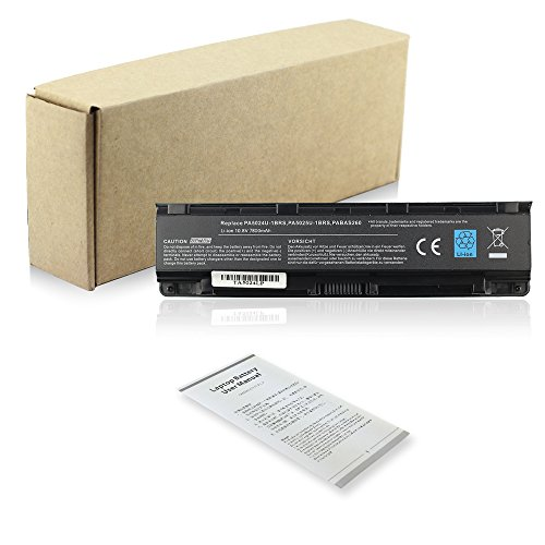Exxact Parts Solutions New Laptop Battery for Toshiba SatelliteL850 C850 C855D P845 P850 P870 PA5023U-1BRS PA5024U-1BRS PA5026U-1BRS PABAS259 PABAS260 PABAS261 PABAS262 [Li-ion 10.8V 7800mAh 9 Cell]