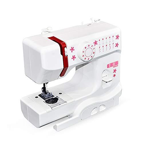 Máquina de Coser Máquina De Coser Mini Pequeña Costura De Escritorio Multifuncional Multifuncional Máquina De Coser Automática para Cortinas Manteles (Color : White, Size : 28.9x12.8x21.1cm)