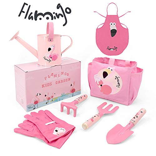 Kids Flamingo Gardening 7Pcs Tool Set $13.19 (40% OFF)