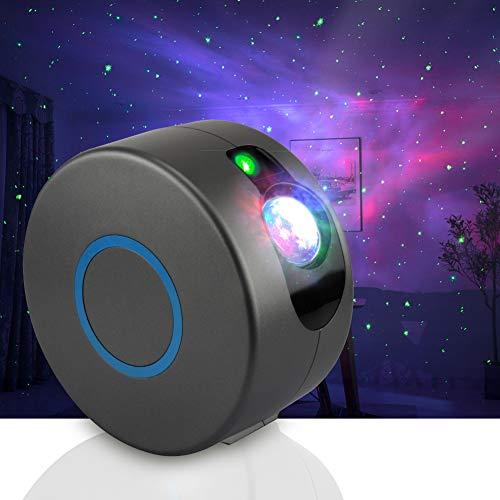 LED Sternenhimmel Projektor mit Fernbedienung, Sternenhimmel Nachtlicht LED Projektoren Nebula Mondlicht Wasserwellen Projektorlicht für Party, Feiertage, Geburtstagsfeiern