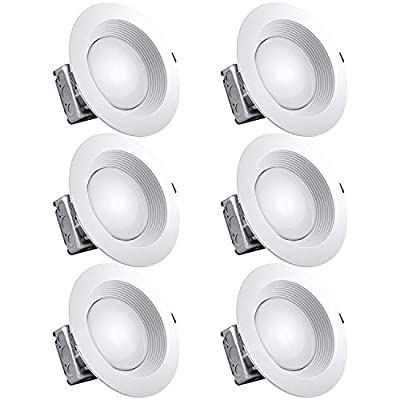 Luxrite 8 Inch LED Recessed Lighting Kit with Junction Box, 25W, 3000K Soft White, Dimmable LED Downlight, 2000 Lumens, 120V-277V, Airtight & IC Rated, Wet Location, ETL and Energy Star
