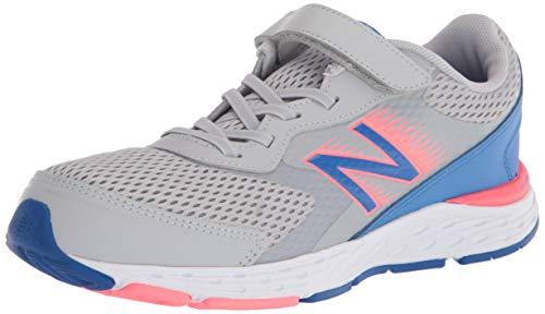 New Balance Kid's 680 V6 Alternative Closure Running Shoe, Light Aluminum/Faded Cobalt/Guava, 13 M US Little Kid