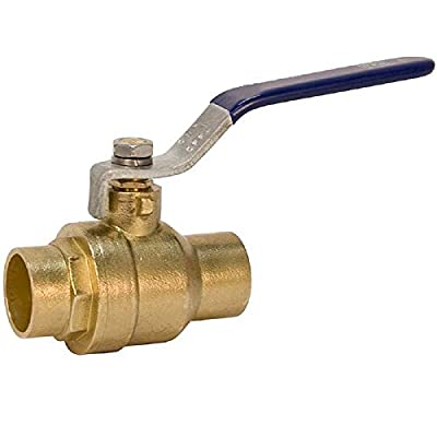 "3/4"" Sweat Solder C X C Brass Full Port Water Stop Shut Off Ball Valve,Heavy Duty Lead Free,for Copper Tubing,Quarter Turn (1-Pack) by Talent International Trading Inc"