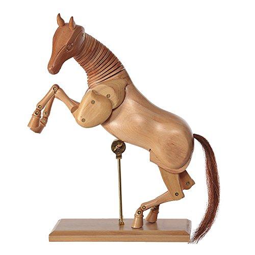Caballo madera - 30 cm modelo de dibujo - Figura para dibujo