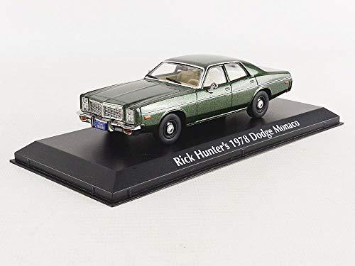 Greenlight 1978 Dodge Monaco (Rick Hunter\'s) Green \Hunter\ (1984-1991) TV Series 1/43 Diecast Model Car