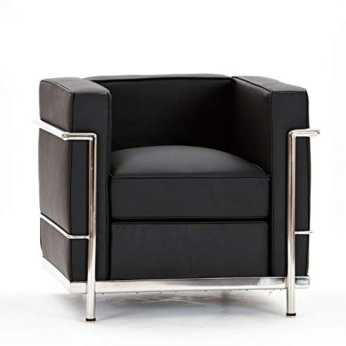 National Office Furniture Supplies Le Corbusier inspiriertes Kunstleder-Sofa, Schwarz Single Chair Schwarz