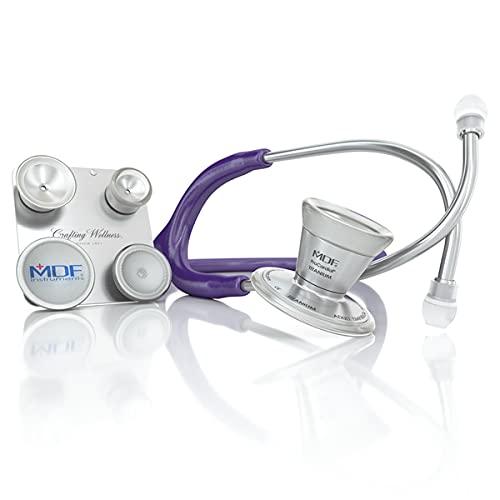 MDF® ProCardial® C3 Titan Kardiologie Zweikopf-Stethoskop mit umbaubarem Bruststück für Erwachsene, Kinder, Säuglinge und Neugeborene - Gratis-Parts-for-Life - Lila (MDF797CCT-08)
