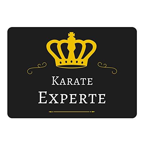 Multifanshop Mousepad Karate Experte schwarz