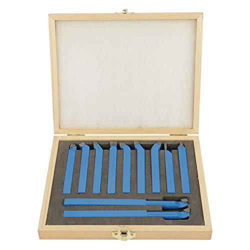 Cocoarm Drehmeissel Set Drehstahl Satz 11 Stücke Zubehör für Drechselbänke und Drehmaschinen Werkzeuge Hartmetall Drehen Werkzeug Set (8 × 8 mm)