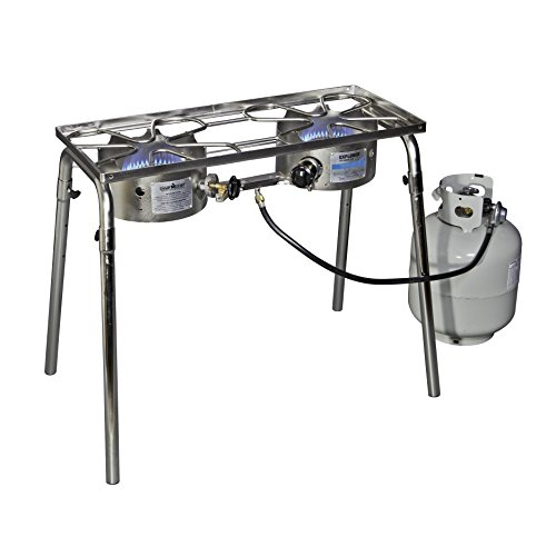 Camp Chef Stainless Explorer Two-Burner Stove