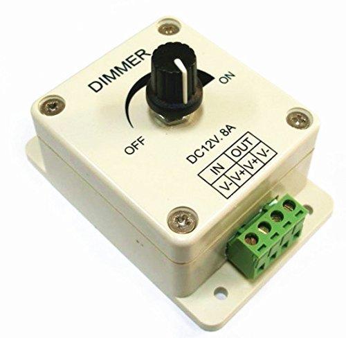 PWM Dispositivo de atenuación para bombillas halógenas LED DC 12 V, interruptor de intensidad regulable, fácil bricolaje, sistemas de iluminación de bajo voltaje, lámparas de mesa, luces de Navidad, marina, barcos, RV, panel solar, fuente de alimentación de 12 voltios