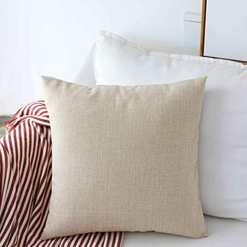 Our #1 Pick is the Home Brilliant Burlap Solid Linen European Throw Pillow