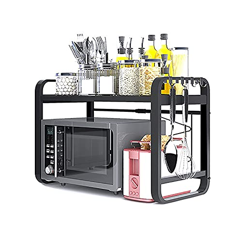 Met Love Horno de microondas extensible Rack Heavy Cargar Microondas Estante de Microondas Oficionador de almacenamiento de cocina (Color : 2 floors)