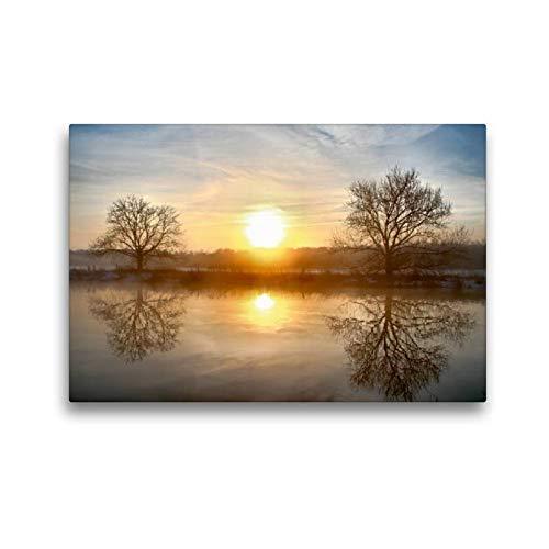 Premium textiel canvas 45 cm x 30 cm dwars, Een motief uit de kalender mystieke momenten - miststemmingen aan de rok | muurschildering, afbeelding op tussen de bomen (CALVENDO Nature);CALVENDO Natuur
