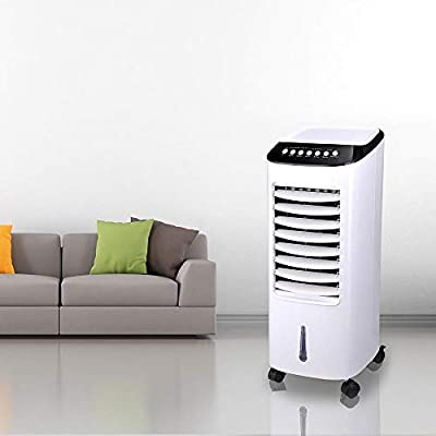 ReaseJoy 4 in1 Evaporative Air Cooler with Remote Control 3 Fan Speeds 7.5 Hour Timer 7L Water Tank 65W for Home Office