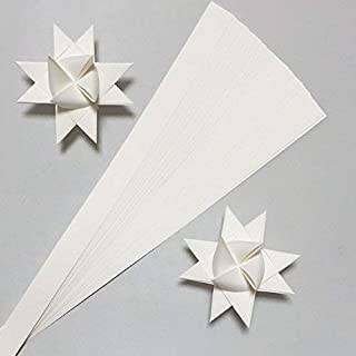 Paper Strips for Weaving Projects. Paper Strips for Moravian Stars, German Stars and Frobel Stars. White in Color. 50 strips per pack. 5/8 inch x 18 inch in Size