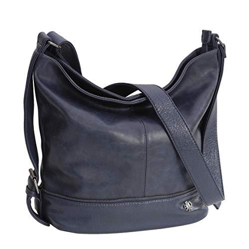 Jennifer Jones Moderne XLHandtasche Schultertasche Umhängetasche Shopperbag für Sport Freizeit Arbeit - präsentiert von ZMOKA (Navy)