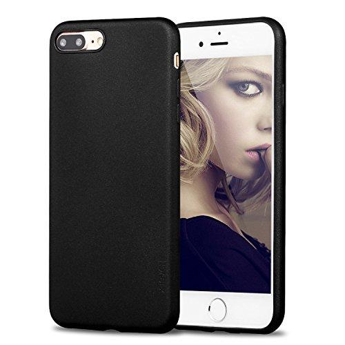 X-level Cover per iPhone 8 Plus,iPhone 7 Plus,Custodia Protezione in Morbida Silicone TPU,Ultra Sottile e Anti-Graffio, Cover Ultra Slim per iPhone 8 Plus/iPhone 7 Plus (5.5 Pollici)-Nero
