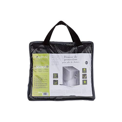 Housse pour pile de chaises - 70 x 70 x 80/120 cm - Polyester - Gris