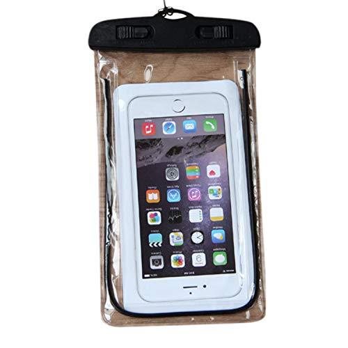 Libertepe Wasserdichte Handyhülle Staubdichte Handytasche Universal Tasche Schutzhülle Smartphone Waterproof Case Handyschutz Nacht Leuchtende Handyhülle Wasser Tauchen Iphone Samsung Huawei