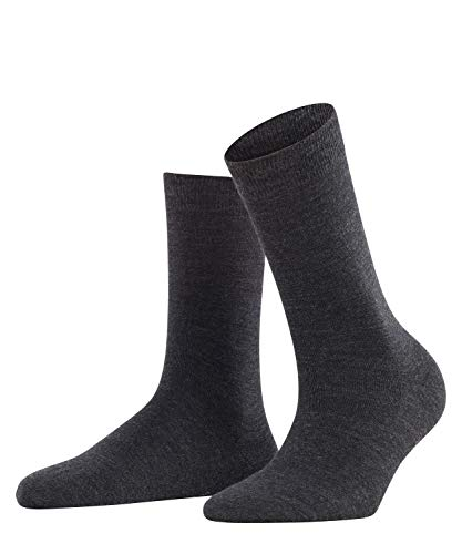 Falke Damen Socken Softmerino W SO-47488, Grau (Anthracite Melange 3089), 39-40
