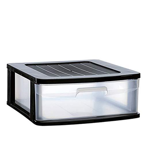 Plastic Forte Sena - Cajonera 1 cajón en Color Negro 17.5 x 39 x 40 cm