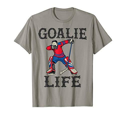 Goalie Life Funny Hockey Gift Shirt with Dabbing Player BZR T-Shirt