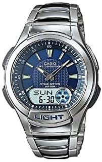 Casio Illuminator Men's Ana-Digi Dial Stainless Steel Band Watch - AQ-180WD-2AV, Quartz