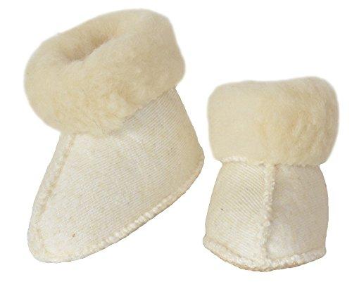 SamWo, Schafwoll-Wohlfühl-Haussocken/Fußwärmer Unisex, Sohle mit rutschfesten Noppen, 100% Schafwolle (37-38, Natur)