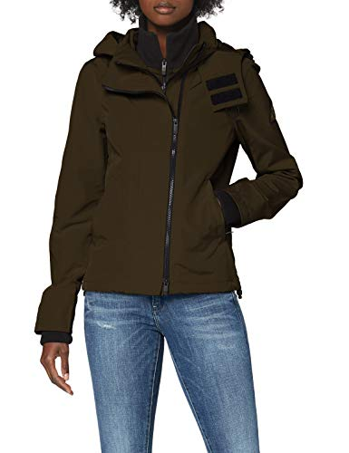 Superdry Ottoman Technical Windcheater Giacca, Verde (Khaki 03o), S Donna