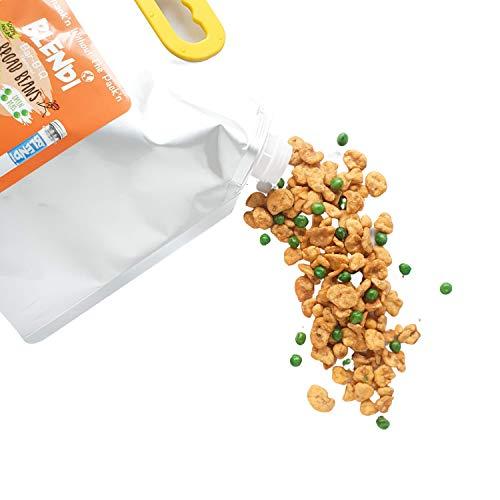 Blendi Snacks Saludables Bajos en Calorías - Aperitivos Sin Gluten, Altos en Proteína Vegana y Fibra - Habas y Guisantes Tostados Crujientes, Sabor BBQ - 1,3kg Bolsa de Aperitivos Gourmet ✅