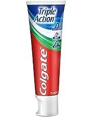 Colgate Tandkräm Triple Action Mint, Fluortandkräm som Skyddar mot Karies – 75 ml