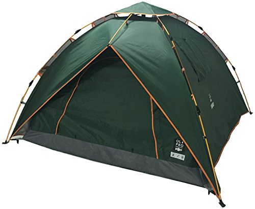 OLPRO Outdoor Leisure Products POP Tent 2.1m x 2.1m 2 Berth Pop Up Festival Tent Green