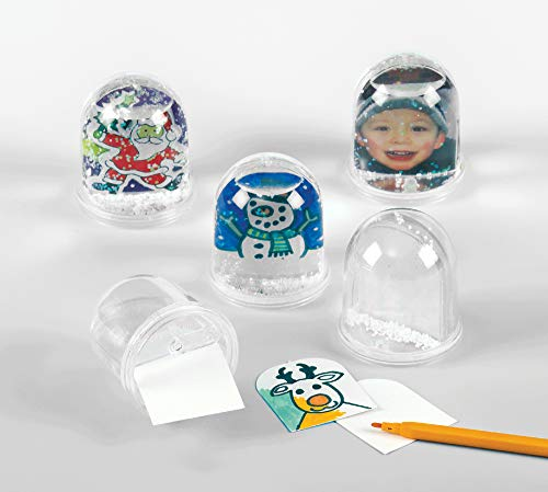 Baker Ross EX3944 Snow Globe Kits - Pack of 4, Perfect for Children to Create and Personalise, Ideal for Home Crafting, Craft Group Activities, Gifting, Assorted