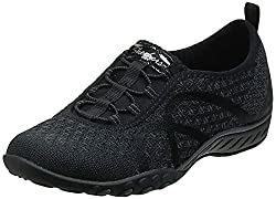 in budget affordable Skechers Sport Breathe Easy Fortune Fashion Women's Sneakers, Black Jersey 7.5 m US